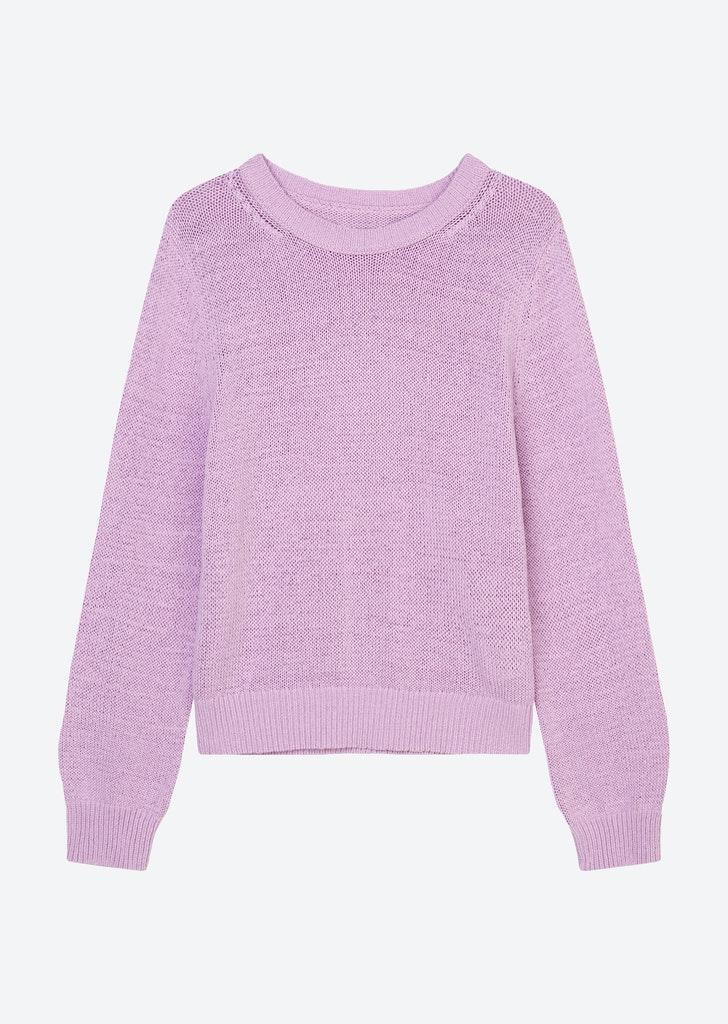 Rundhals-Pullover aus Bändchengarn