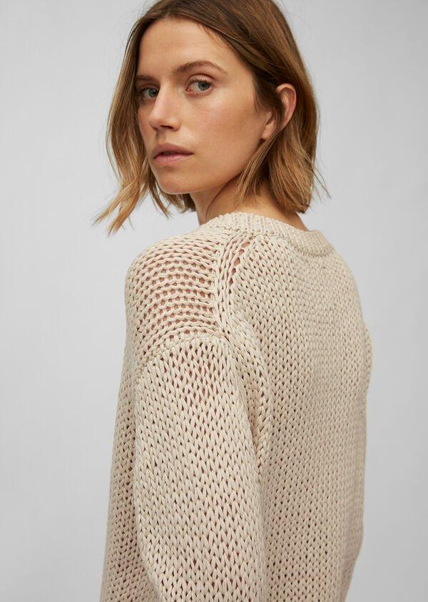 Pullover aus groben Bändchengarn