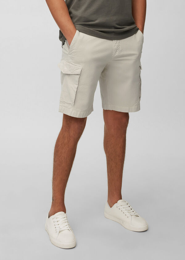 Cargo-Shorts in glatter Popeline-Qualität