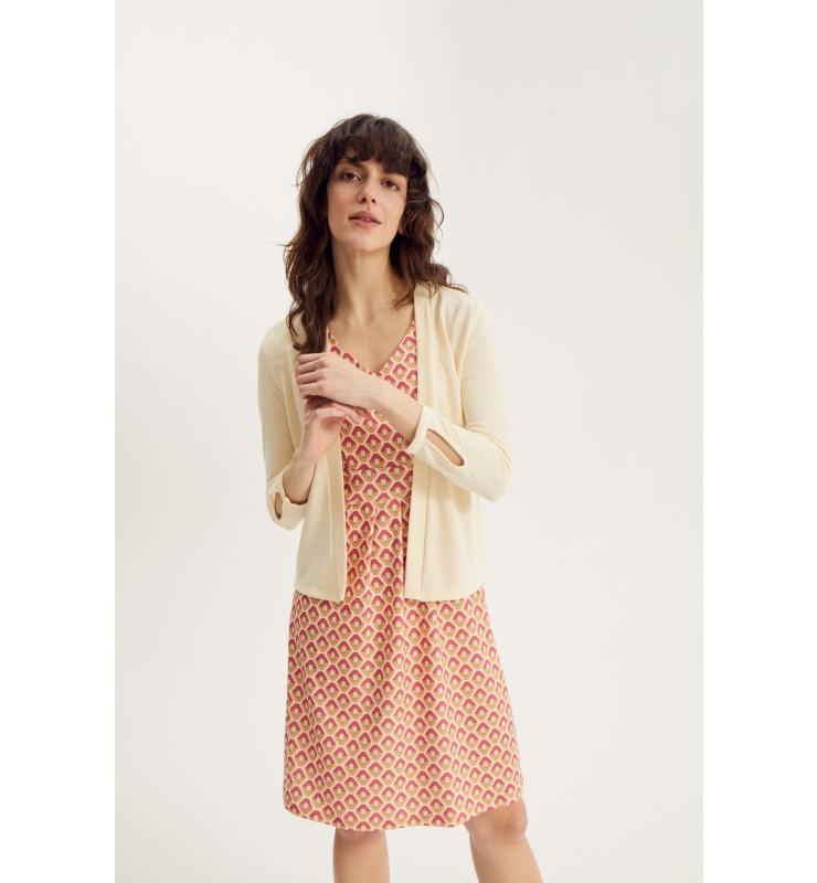 Jerseykleid mit grafischem Mini-Print