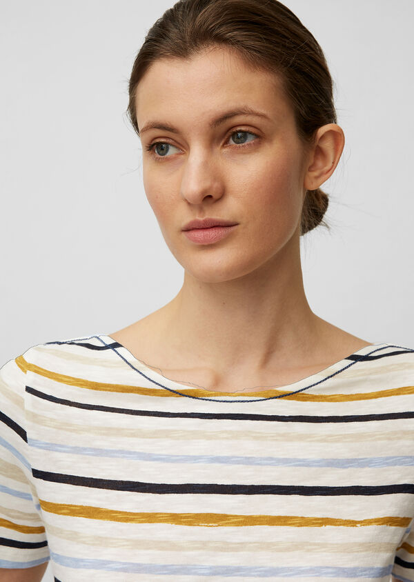 Gestreiftes T-Shirt aus Organic Cotton