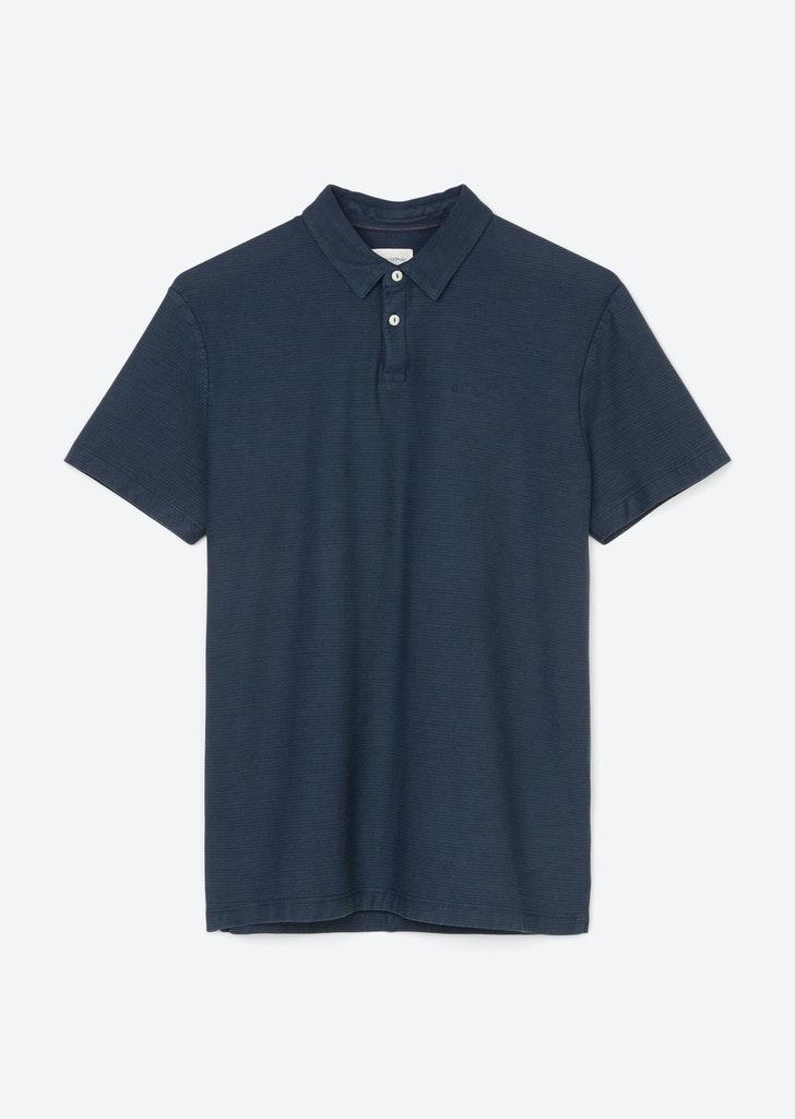 Kurzarm-Poloshirt mit leichten Streifen