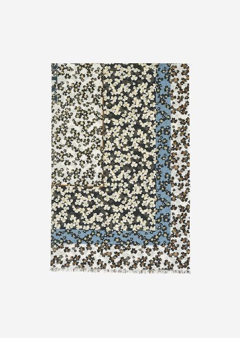 Feines Tuch mit Blumenprint