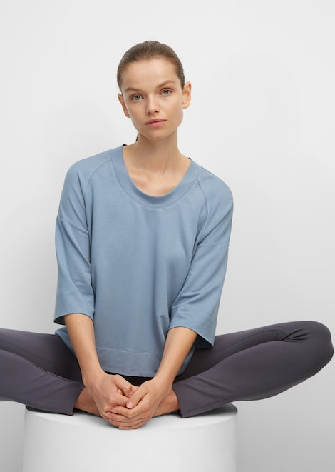 Yoga-Kurzarm-Sweatshirt