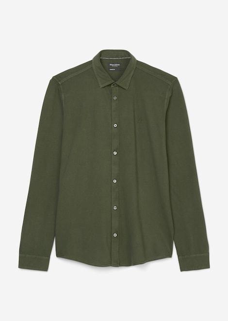 Langarm-Jersey-Hemd