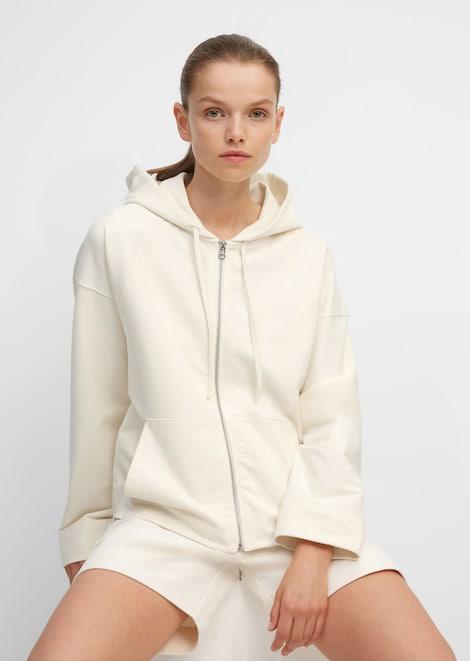 Yoga-Hoodie-Jacke aus Organic Cotton
